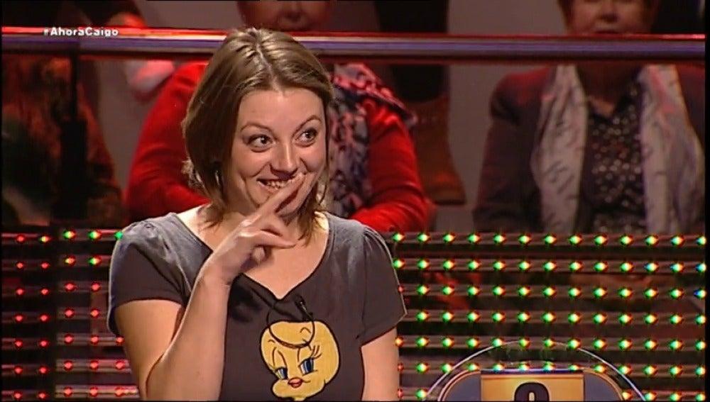 Mica, la concursante más feliz