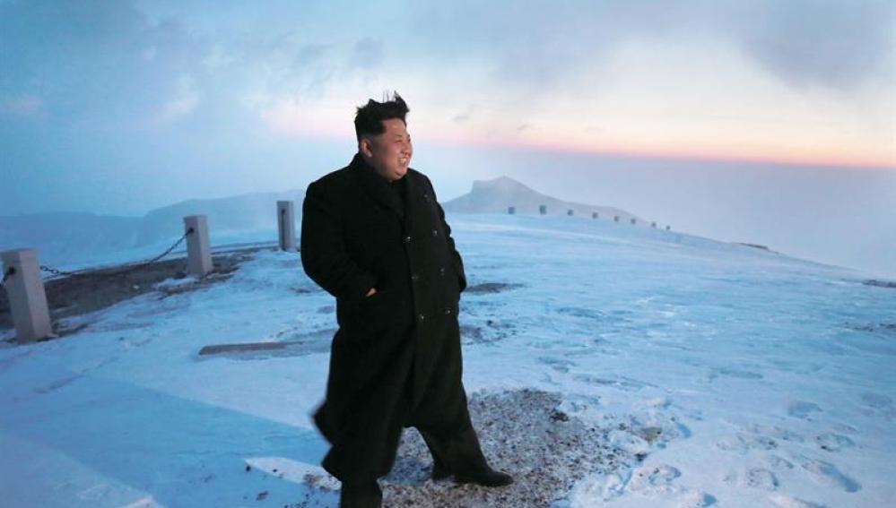 Kim Jong-un escala el Monte Paekdu