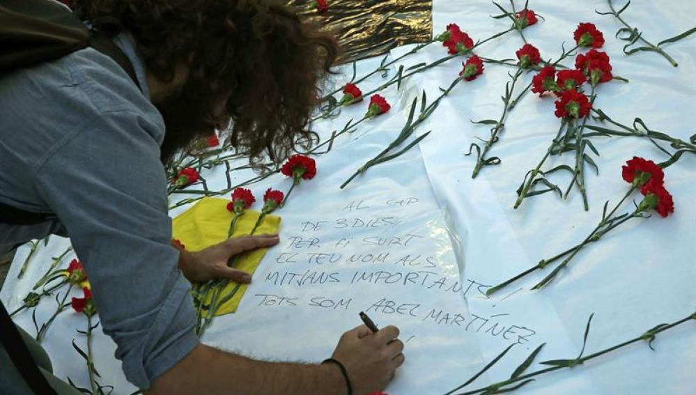 Rosas rojas en Barcelona
