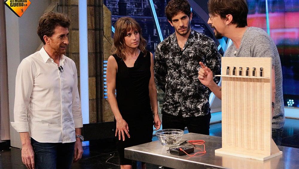 Marron, Marta Etura, Quim Gutiérez y Pablo Motos en El Hormiguero 3.0