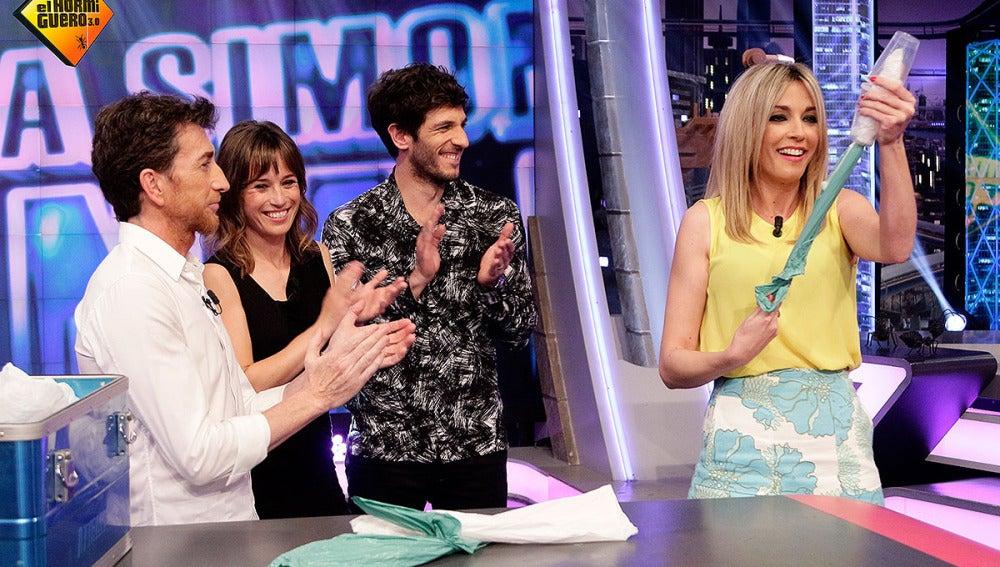 Anna Simon, Quim Gutiérrez, Marta Etura y Pablo Motos en El Hormiguero 3.0