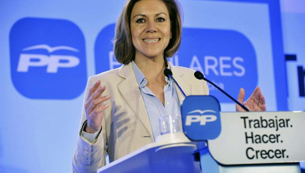 María Dolores de Cospedal, presidenta del PP de Castillla-La Mancha