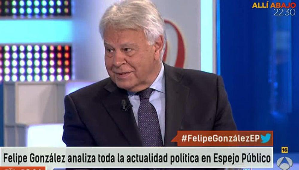 Felipe González en Espejo Público