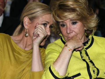 Cristina Cifuentes y Esperanza Aguirre
