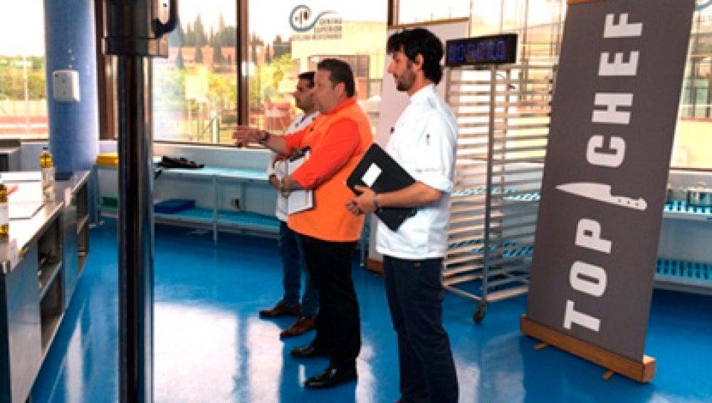 Alberto Chicote en los casting de la tercera temporada de Top Chef