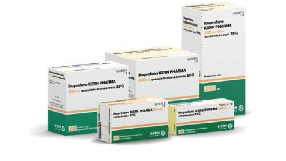 Lote de Ibuprofeno Kern Pharma.