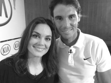 Rafa Nadal y Mónica Carrillo