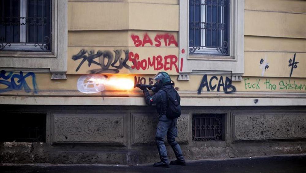 Enfrentamientos en Milán