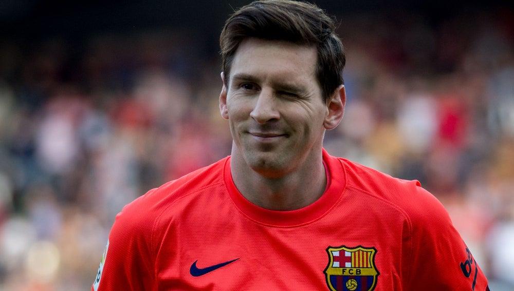 Gesto cómplice de Leo Messi