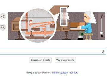 Doodle de Google que homenajea a Bartolomeo Cristofori