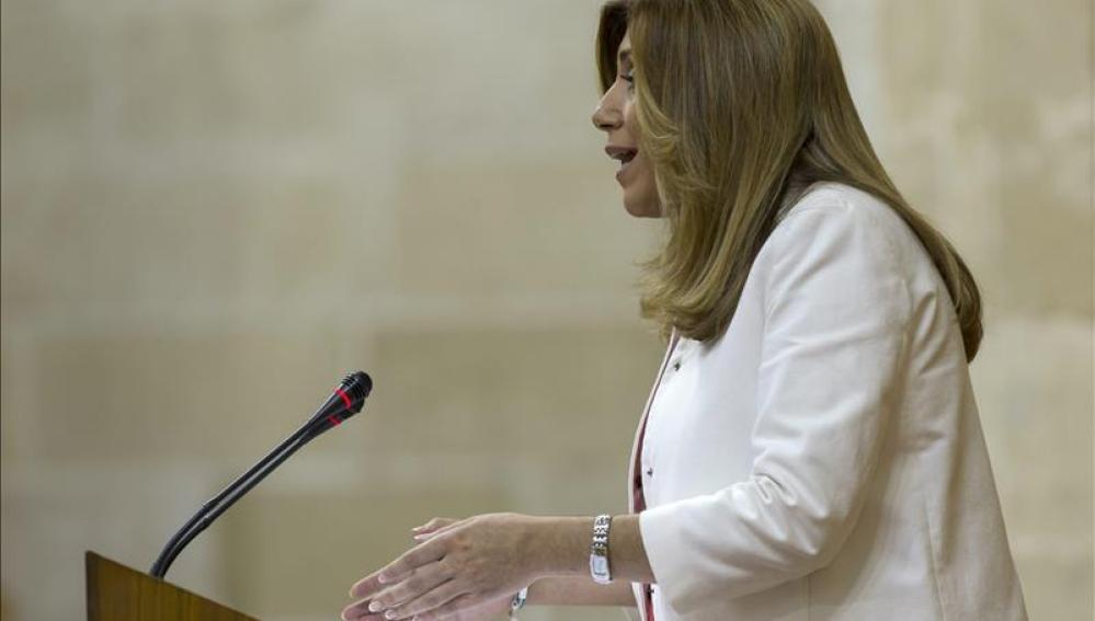 Susana Díaz en su discurso de investidura