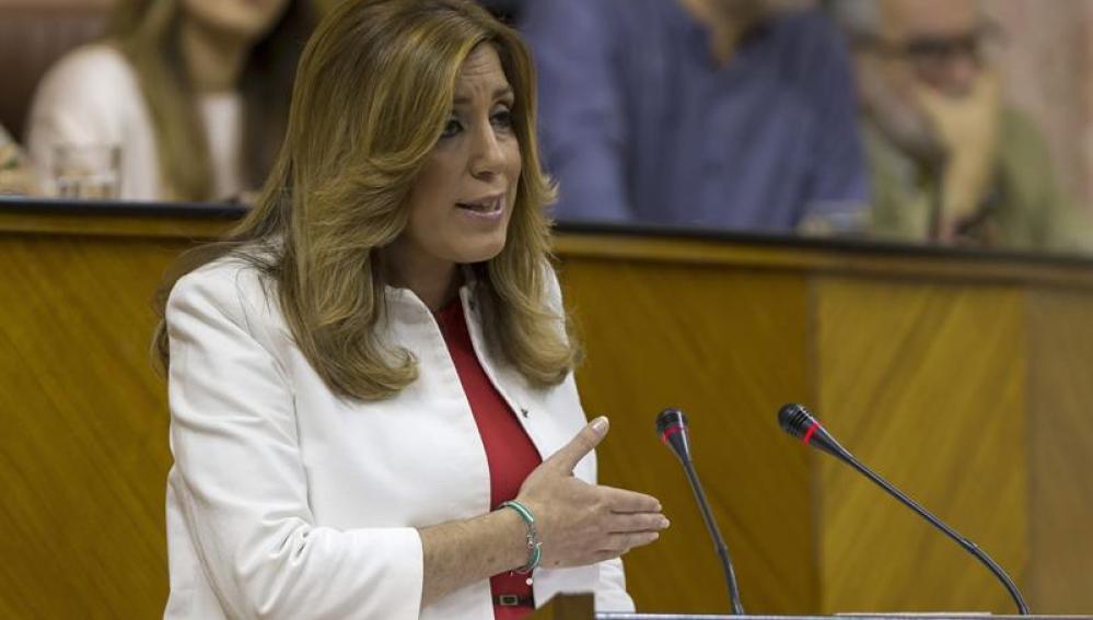 Susana Díaz, comparece en la Junta de Andalucía.