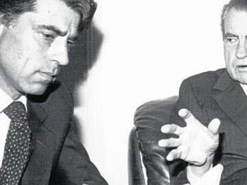 Hermida junto a Richard Nixon