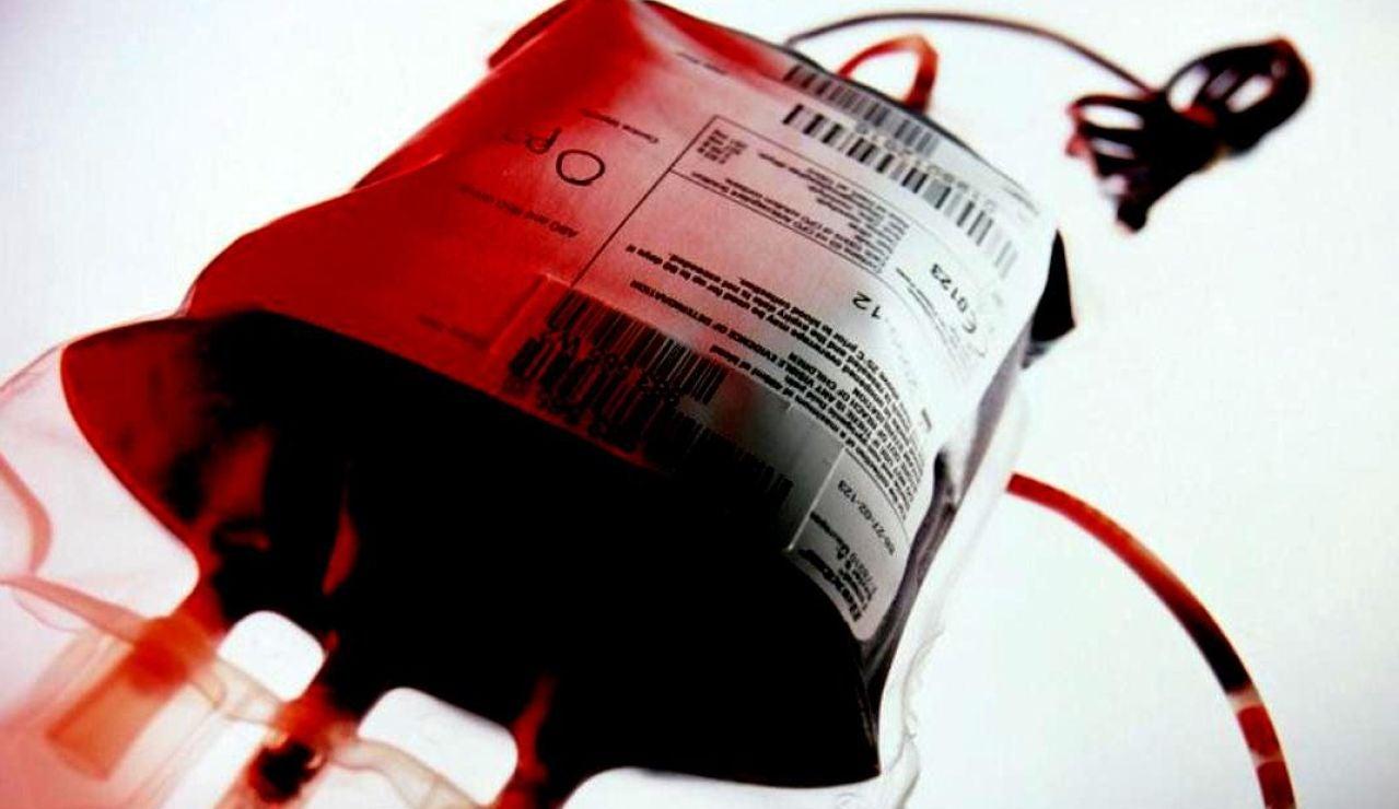 Una bolsa de plasma sanguineo