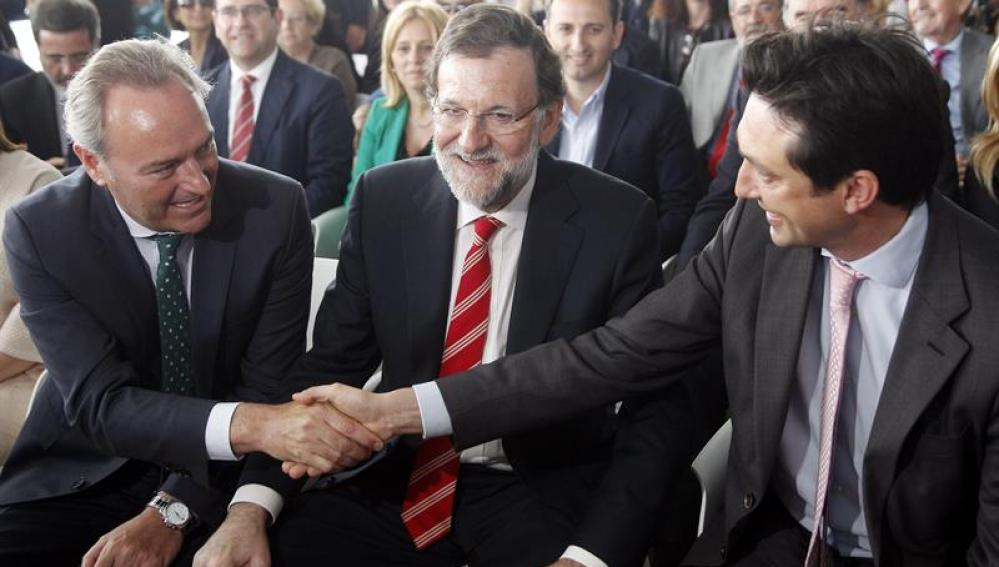 Mariano Rajoy, junto a Alberto Fabra