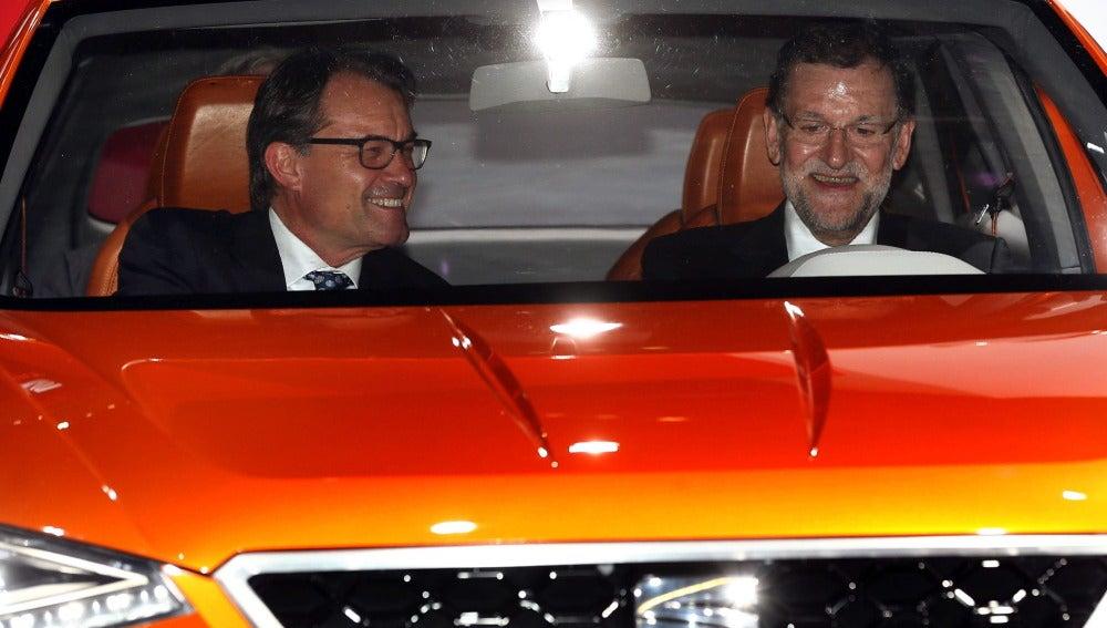 Mariano Rajoy y Artur Mas en Cataluña