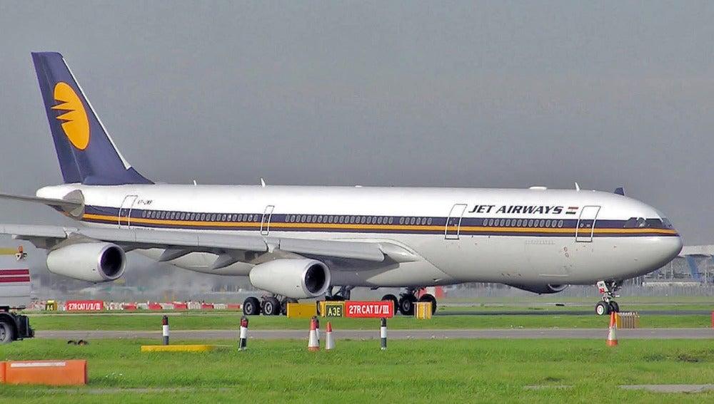 Avión de la compañía Jet Airways