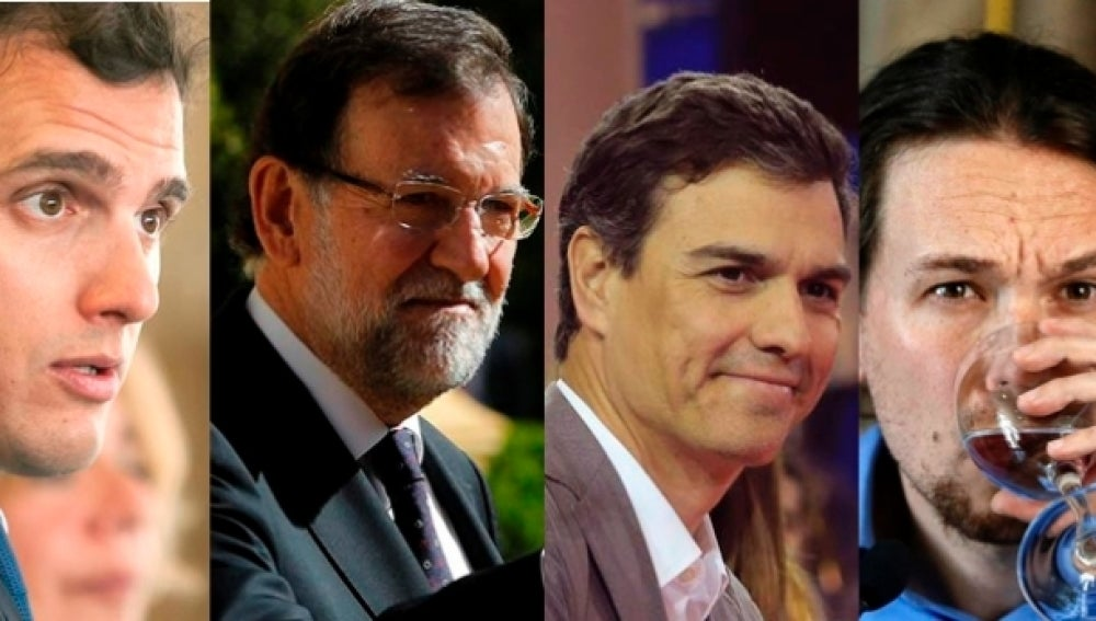 PP, PSOE, Podemos y Ciudadanos