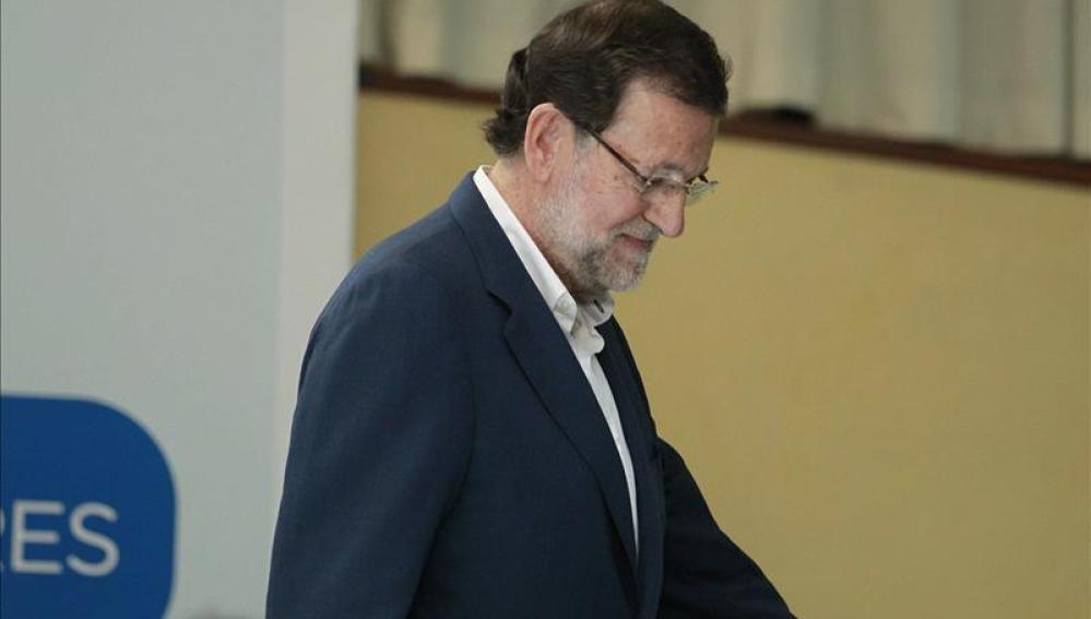 Mariano Rajoy tras suspender el mítin de Canarias