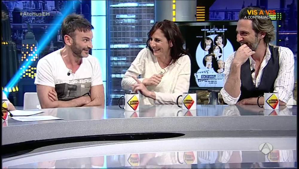 Fernando Tejero, MAlena ALterio y Ernesto Alterio en 'El Hormiguero 3.0'