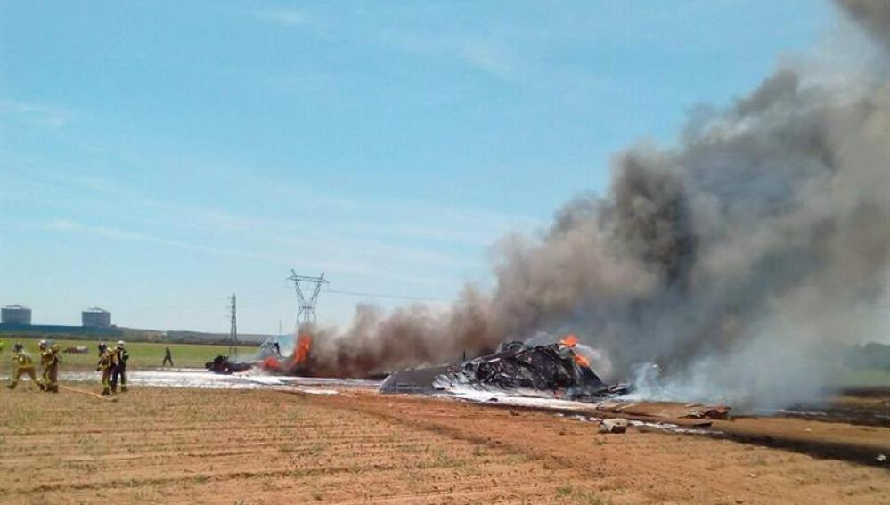 Airbus accidentado en Sevilla