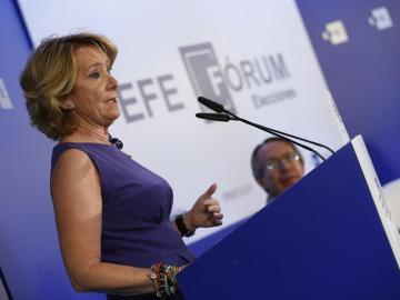 Esperanza Aguirre en un acto de EFE Fórum.