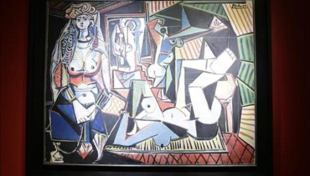 Detalle de 'Les femmes d'Alger' de Pablo Picasso.