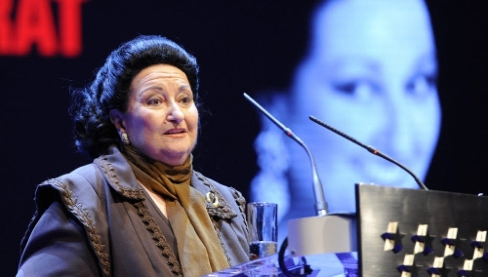La soprano, Montserrat Caballé