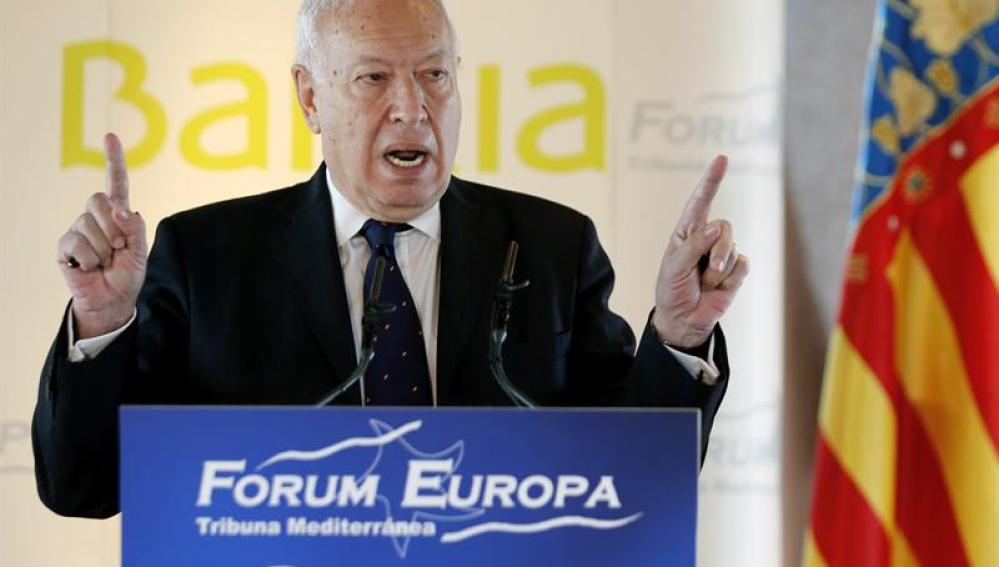 El ministro García-Margallo en Valencia.