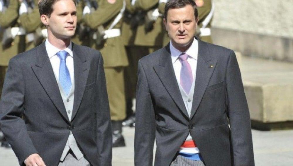 El primer ministro de Luxemburgo y su pareja
