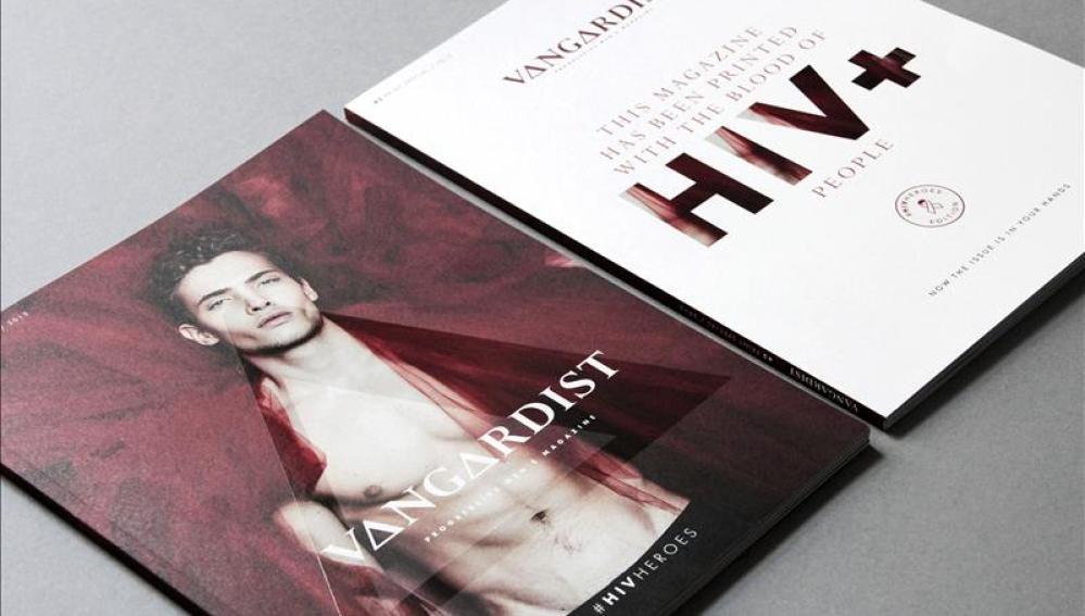 Vangardist, una revista impresa con sangre con VIH