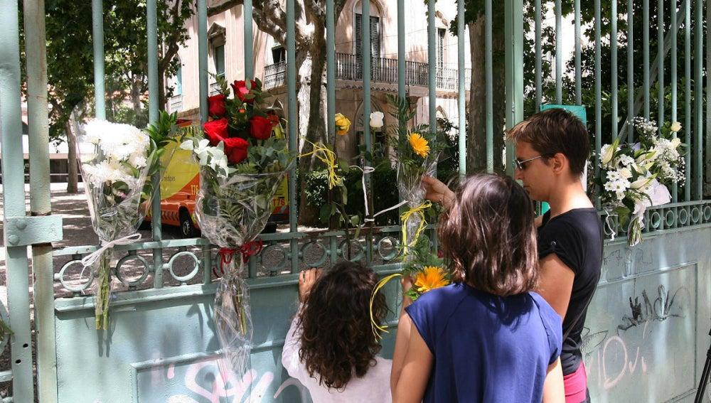 Flores en el colegio de Reus