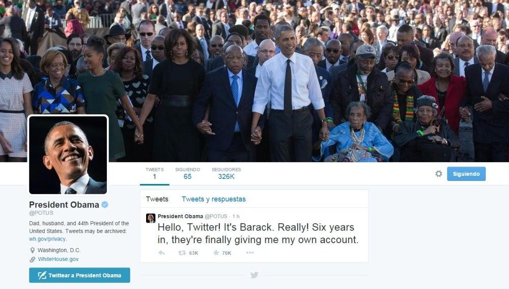 Nueva cuenta personal de Barack Obama en Twitter