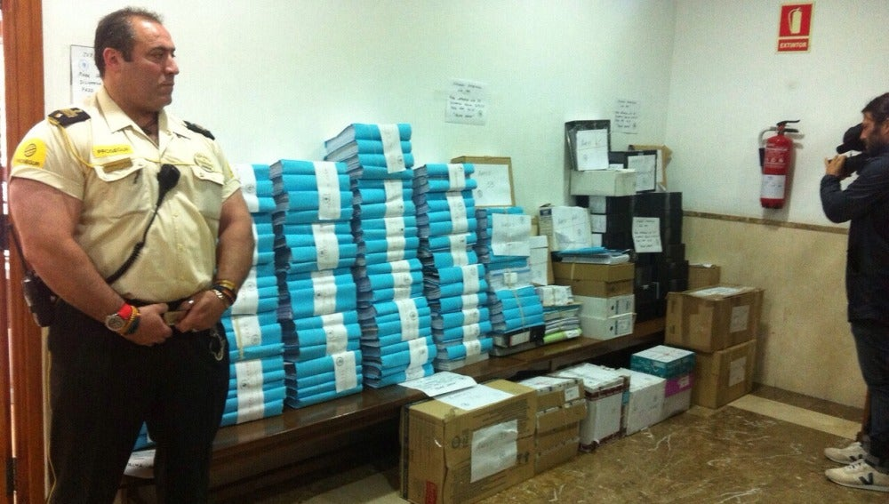 Los cien tomos del caso Nóos serán trasladados hoy a la Audiencia Provincial de Baleares