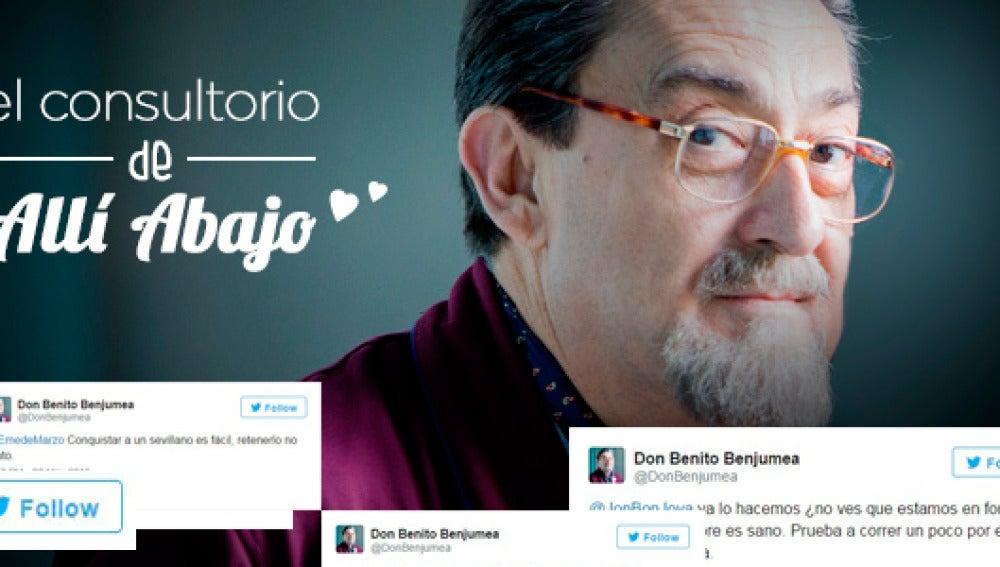 Don Benito Benjumea ha respondido a todas vuestras dudas en el divertido consultorio de Allí Abajo