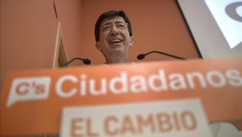 El presidente del grupo parlamentario andaluz de Ciudadanos, Juan Marín