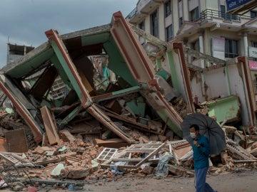 Destrucción por el terremoto en Kathmandu