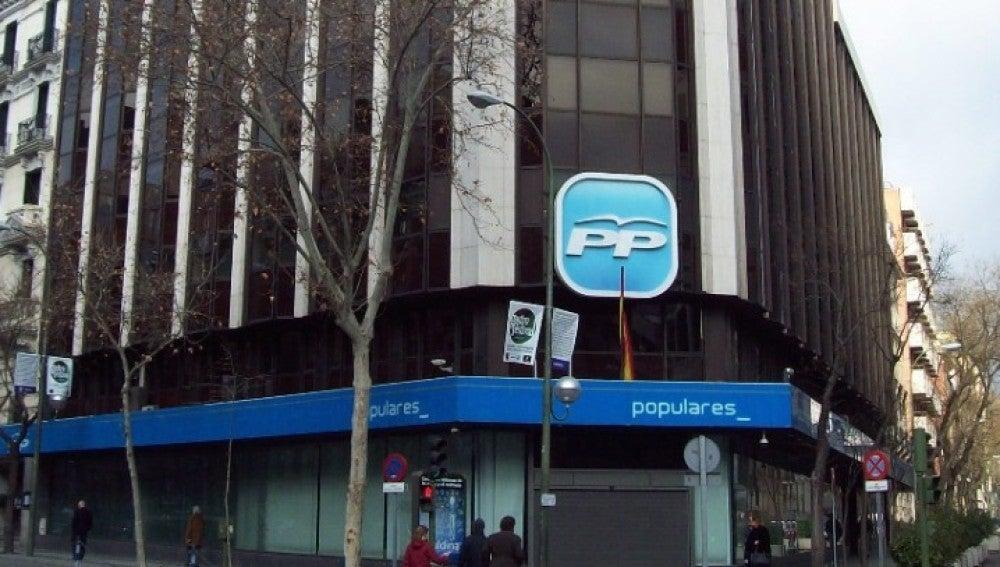 Sede del PP en la calle Génova de Madrid