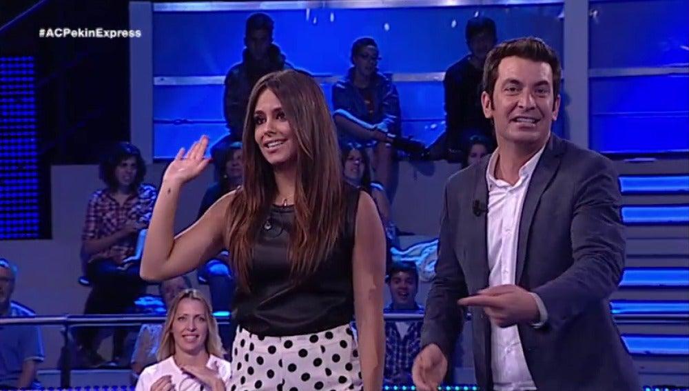 Cristina Pedroche participa en ¡Ahora Caigo!
