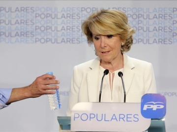 Esperanza Aguirre, candidata del PP a la Alcaldía de Madrid