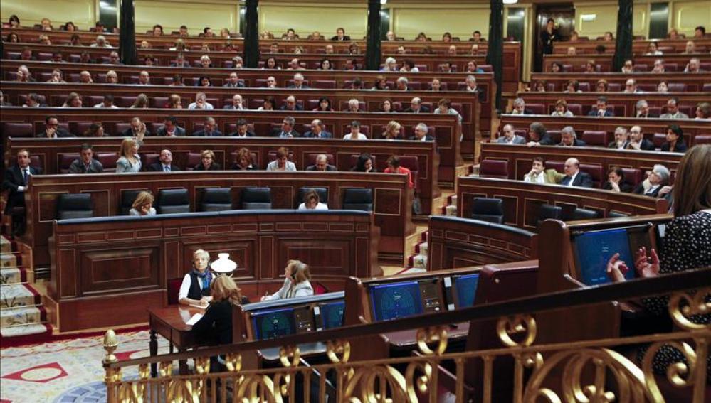 Pleno en el Congreso de los Diputados.