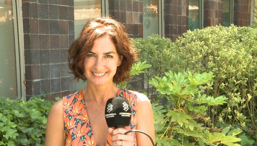 Belén López en la rueda de prensa de 'Mar de plástico'