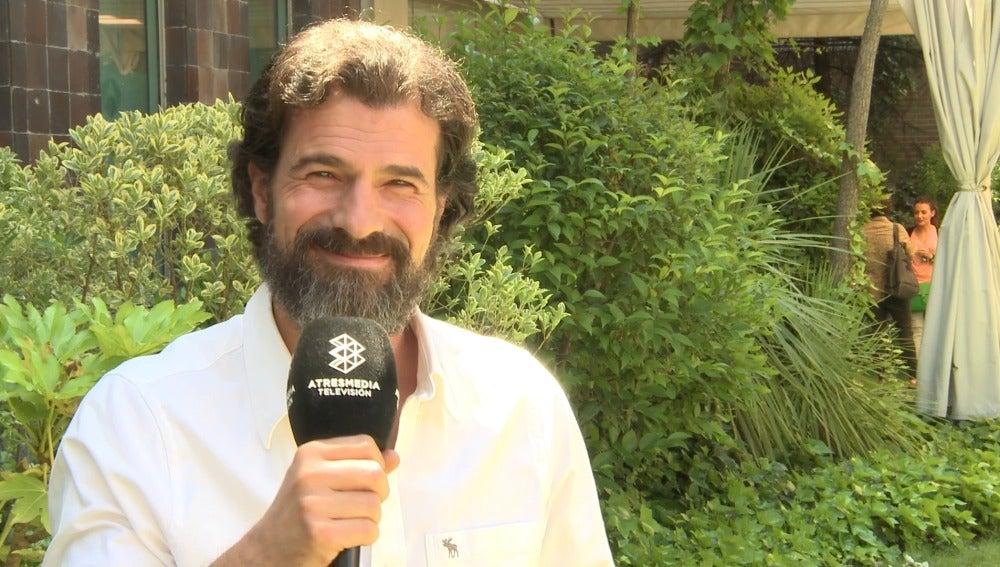 Rodolfo Sancho en la rueda de prensa de 'Mar de plástico'