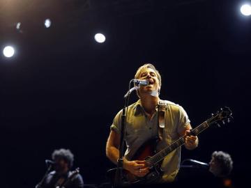 Dan Auerbach durante el concierto de The Black Keys