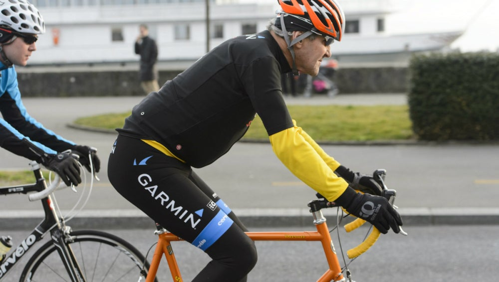 John Kerry, en bicicleta