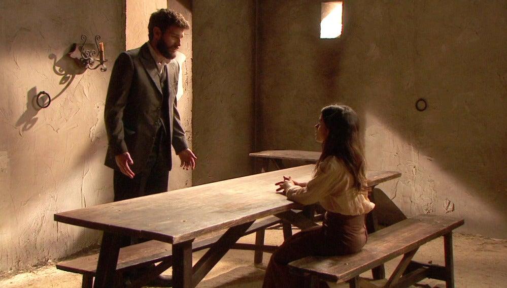 Visita sorpresa de Bosco a Inés en prisión