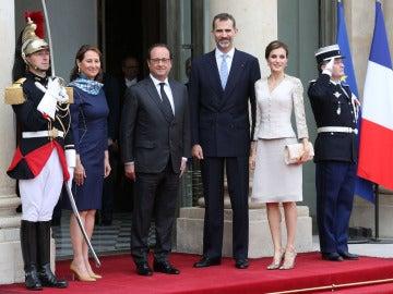 Los Reyes de España de visita oficial en Francia