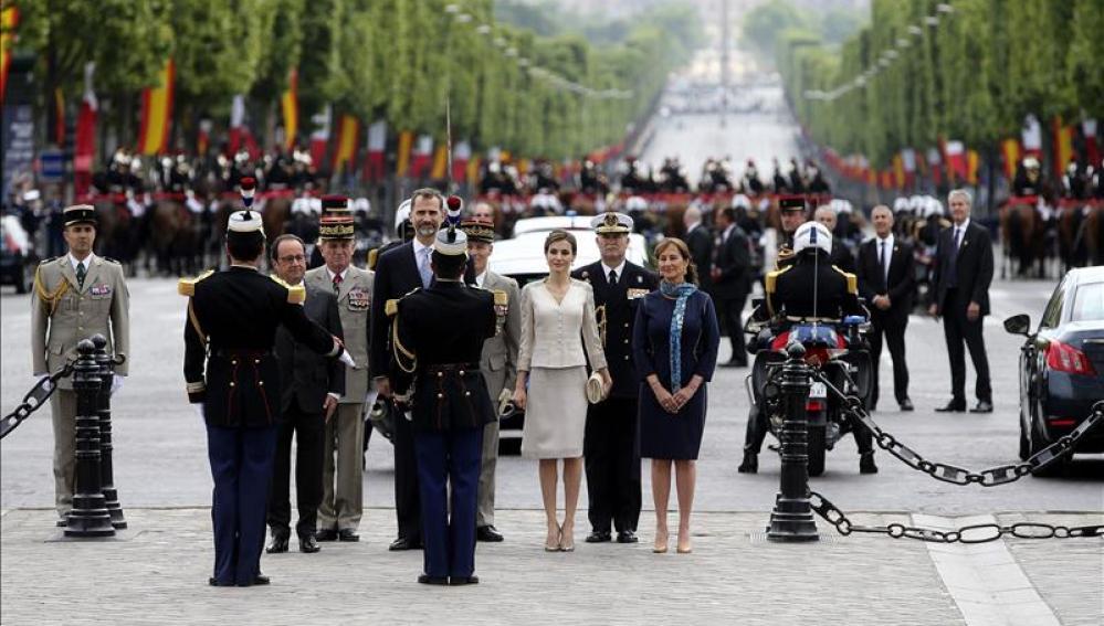 Los Reyes de España, durante su visita oficial en Francia