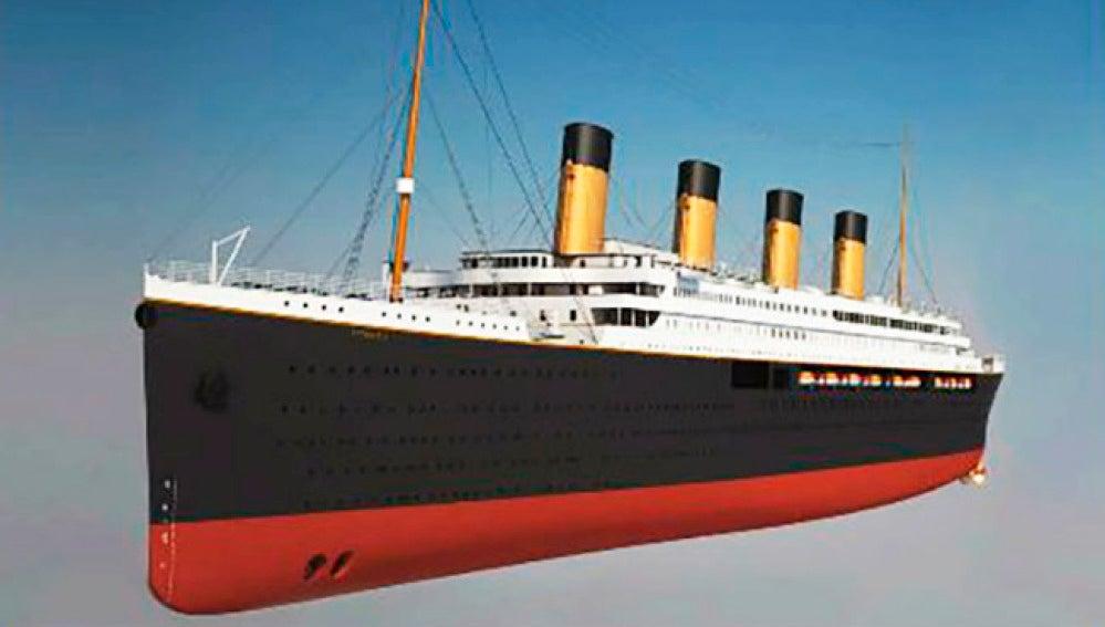 Montaje de la empresa china que construye la réplica del Titanic.