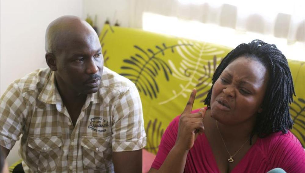 Alí Ouattara y Lucie Ouattara, padres biológicos del pequeño Adou